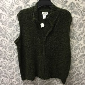🛍CLEARANCE🛍 Coldwater Creek green zip up vest